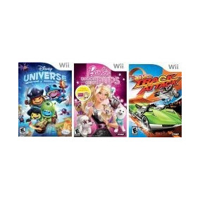 Game Wii Pacote Disney Universe, Hot Wheels, Barbie G Pups