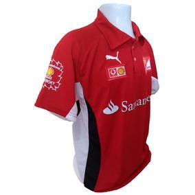 Camiseta Polo Ferrari Santander Vermelha Oficial Importada 791bbd11ff5f6