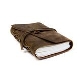 Cuaderno De Cuero De Búfalo Hecho A Mano Y Escribir Diario,
