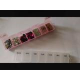 Kit Com 2 Caixinhas Para Pedrarias Ou Comprimidos