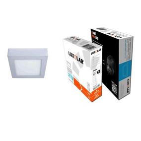 Lampara Cuadrada Superficial Luxolar 4 Luz Blanca