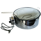Fritadeira /tacho Eletrico Esmaltado 3 Litro Termostato 220v