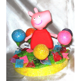 Adornos Para Torta Pepa Pig Con Globos