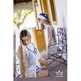 Chaleco Manawee Mujer Tejido Crochet Con Flecos