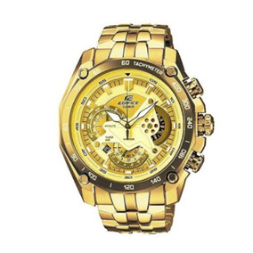 Relógio Casio Banhado A Ouro Dourado Ef 550fg 9av Original