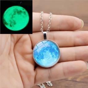 Collar Luna Llena Brilla En La Oscuridad Envió Gratis Regalo