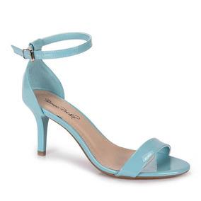 Sandália Salto Feminina Bruna Rocha - Azul