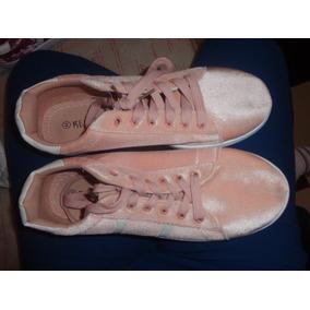 Zapatos Terciopelo Deportivos Casuales Dama Talla 39 Y 40