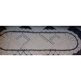 Passadeira( Tapete 50 X 140 Cm) Crochê A Mão De Barbante Cru