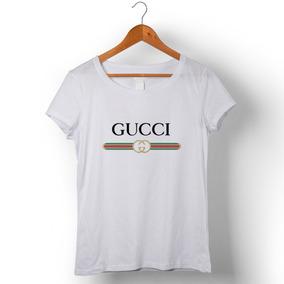 Camiseta Feminina Gucci 3 Por - Calçados 91be50da7b962