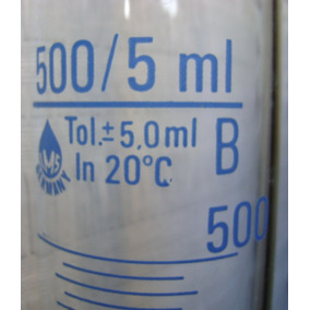Laboratorio Tubo 500ml / 5ml Vidrio Alemán - No Envío
