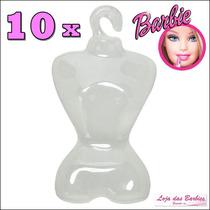 Lote Kit Com 10 Cabides ( Estilo Manequim ) P/ Boneca Barbie