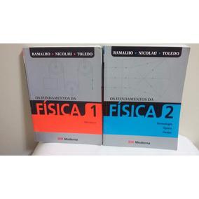 Kit Com 2 Livros Os Fundamentos Da Física Volumes 1 E 2