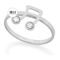 Anel Skinny Ring Nota Music F. Ouro Rommanel 110702