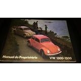 Manual Fusca 1300 1500 Anos 1971 1972 Em Branco Original -