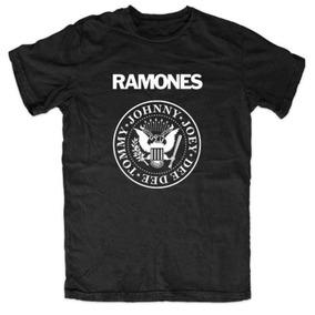 Camiseta De Banda Masculina Ramones