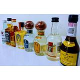 Kit Miniatura Botellas Brandy Tequila Ron Whisky Botellitas