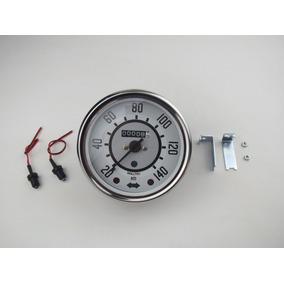 Velocimetro Fusca Branco 140 Km/h Fuscão Marcador Velocidade