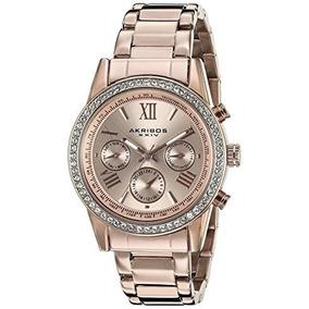 Akribos Xxiv Mujer Ak872rg Reloj Rosa
