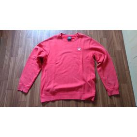 Blusa Moletom Careca Nike Vermelho Original Usado Tamanho P
