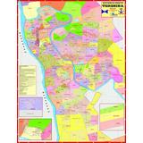 Mapa Geo Político E Rodoviário Gigante Da Cidade De Teresina