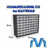 Organizador 64 Gavetas 40x16x51cm Traslucido Arduino