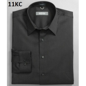 S, M - Camisa Kenneth Cole Negra C11kc Ropa Hombre Original