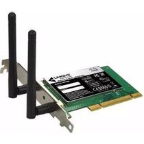 Placa De Rede Wireless Wifi Pci Cisco Pc 600 Mbps 2 Antenas