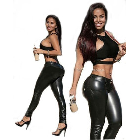 Pantalón Strech Elástico Ajustado Sexy Leggings Mujer Pushup
