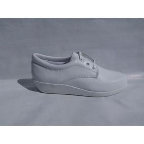 Zapatos Blancos Para Doctor O Enfermera De Piel Modelo 101