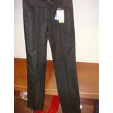 Pantalón Markova De Vestir Negro, Corte Clásico - Talle 40