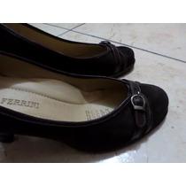 Bruno Ferrini. Zapatos De Cuero.marron