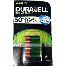 6 Baterias Recargables Aaa Duracell Pilas 2500mah Nimh Envio