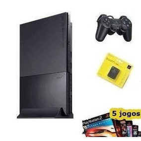 Playstation 2 Slim Destravado + 1 Manete + M.card 8 + 5 Jg
