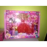 Barbie Con Set De Vestidos