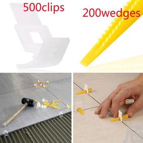 Clips De Sistema 500 Nivelación Cerámica + 200 Cuñas Teja...