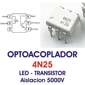 4n25 4n26 4n28 Mct2 Optoacoplador Led Transistor Dip6