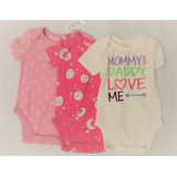 Body Mameluco Bebe Baby Place Set 3 Unids Talla 0 A 3 Meses