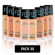 Pack 8 Base De Maquillaje Maybelline Fit Me Matte Mny Ny
