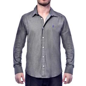 Camisa Jeans Com Elastano
