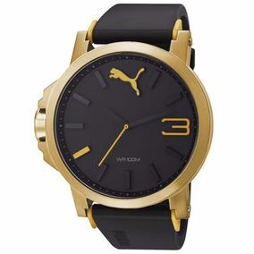 Relógio Puma Masculino Dourado Original 12xs/juros Sedex