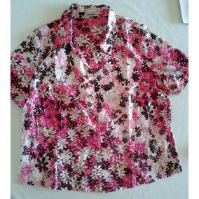 Blusas Camisas Varias T. 46/48/50 Seda Fina Crepe Colores Vs