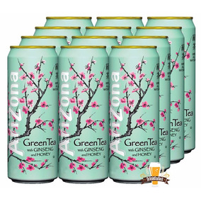 Arizona Green Tea - Chá Verde Com Mel E Ginseng 680ml Kit 12