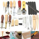 24 Artesanía De Cuero Punch Kit Herramientas Costura...