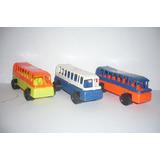 Autobus Foraneo De Pasajeros Set De 3 - Camioncito D Juguete