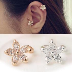 Ear Cuff Flor, Brinco De Encaixe, Bracelete, Brinco Pressão