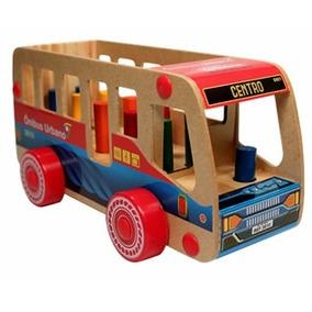 Ônibus Com Pinos Nina Brinquedos Educativos