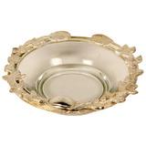 Bowl De Vidro Com Detalhes De Metal Pearl