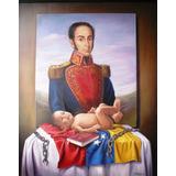 Cuadro, Pintura Al Oleo, Del Libertador Simón Bolivar