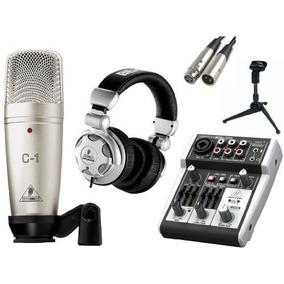 Behringer C-1 Micrófono Con Mezclador Usb Amplificador; Acc